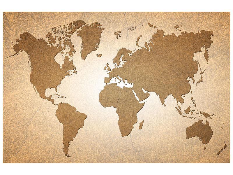 Canvas print Map Of The World In Vintage