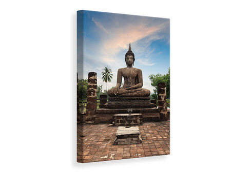 Canvas print Buddha Statue at Dusk