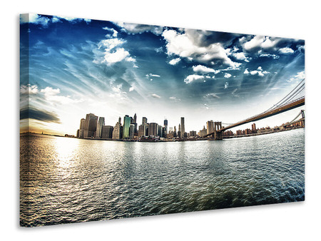 Canvas print Brooklyn Bridge From The Other Side