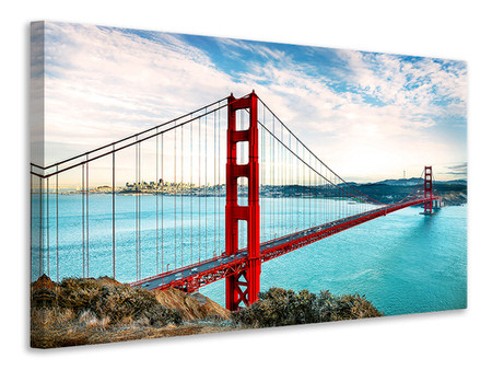 Canvas print Red Golden Gate Bridge