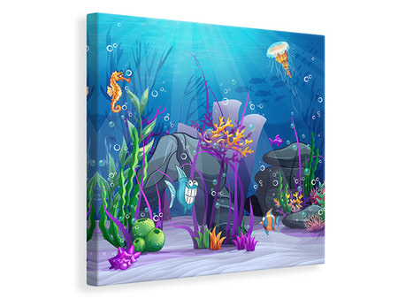 Canvas print Underwater Treasure Hunt
