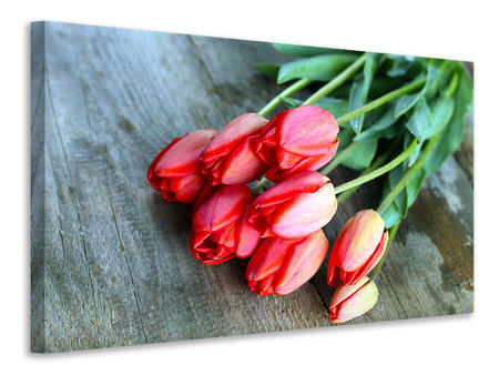Canvas print The Red Tulip Bouquet