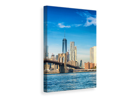 Canvas print New York Skyline And Brooklyn Bridge